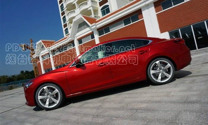 红色马自达atenza阿特兹改装前后车标车顶喷黑色   马自达高清图片