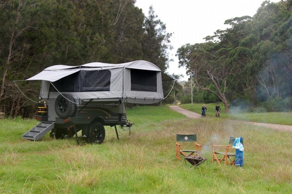 野营帐篷小拖车欣赏